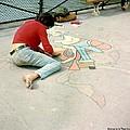 Paris Chalk Art 1964 by Glenn McCurdy
