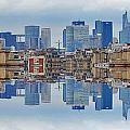 Paris La Defense And Trocadero Skyline Mirrored by Cedric Darrigrand