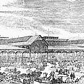 Paris: Les Halles, 1858 by Granger
