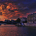 Paris Sundown by Wes and Dotty Weber