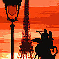 Paris Tour Eiffel Red by Yuriy Shevchuk