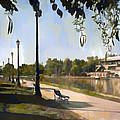 Park San Martin Mendoza Argentina by Diane Dugas