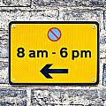 Parking Sign by Tom Gowanlock