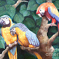 Parrot Painting by Audrey Peaty