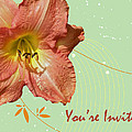 Party Invitation - Orange Day Lily by Mother Nature