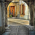 Passageway And Arch In Provence by Dave Mills