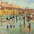 Passing Time On Brighton Beach by Robert Tyndall