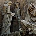 Passion Facade Barcelona Spain by Bob Christopher
