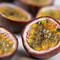 Passion Fruit Halves by Veronique Leplat