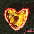 Passion Fruit With Text by Wingsdomain Art and Photography