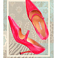 Passion Pink Strapped Pumps by Elaine Plesser
