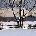 Pastoral View Of A Farm Covered In Snow by Raymond Gehman