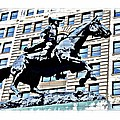 Paul Revere Galloping Statue by Alice Gipson
