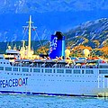 Peace Boat Along South America Coastline by Tap On Photo