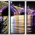 Peace Bridge 02 Triptych Series by Michael Frank Jr