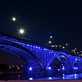 Peace Bridge At Night by Guy Whiteley
