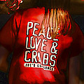 Peace Love And Crabs  by Hazel Billingsley