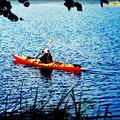 Peaceful Canoe Ride Ll by Kathy Sampson