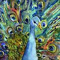 Peacock Party by Miriam  Schulman