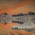 Peaks At Sunset Wiencke Island by Colin Monteath