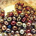 Pearls In A Pile  Art by Debbie Portwood