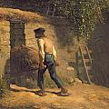 Peasant With A Wheelbarrow by Jean-Francois Millet