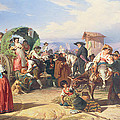 Peasants Of The Campagna by Robert Alexander Hillingford