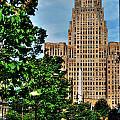 Pedestrian View Of City Hall Vert by Michael Frank Jr