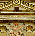 Pediment Of Oldest High School In France by Kirsten Giving