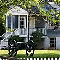 Peers House And Cannon Appomattox Court House Virginia by Teresa Mucha