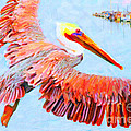 Pelican Flying Back To The Docks by Wingsdomain Art and Photography