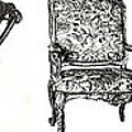 Pen And Ink Poster Of Chairs by Adendorff Design