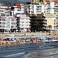 Peniscola Beach By Mediterranean Sea In Spain by John Shiron