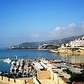 Peniscola Beach Marina Boats Sea View Waterfront At The Mediterranean In Spain by John Shiron