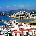 Peniscola Beach Marina Boats Sea View Waterfront Homes By The Mediterranean In Spain by John Shiron