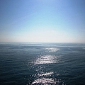 Peniscola Castle Sea View Of The Sun Glowing In The Water Spain by John Shiron