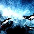 Penquin Joy Play  In Huge Waves by Colette V Hera  Guggenheim
