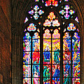 Pentecost Window - St. Vitus Cathedral Prague by Christine Till