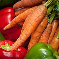 Peppers And Carrots by Frank Mari