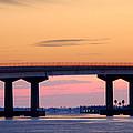 Perdido Bridge Sunrise Closeup by Michael Thomas