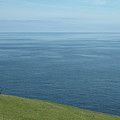 Person Looking Out To Sea In Cornwall by Thepurpledoor