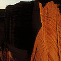 Person Standing Atop The Kings Canyon by Jean-Paul Ferrero