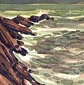 Pescadero Rocks by Donald Maier