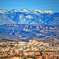 Petrified Dunes And La Sal Mountains by Tara Turner