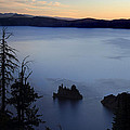 Phantom Ship Sunrise At Crater Lake by Pierre Leclerc Photography