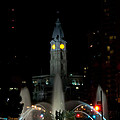 Philadelphia City Hall And Swann Fountain At Night by Bill Cannon