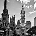 Philadelphia City Hall Bw by Susan Candelario