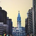Philadelphia Cityhall At Dawn by Bill Cannon