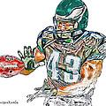 Philadelphia Eagles Leonard Weaver by Jack K