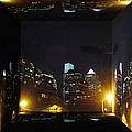 Philadelphia Skyline At Night - Mirror Box by Mother Nature